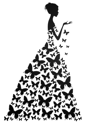 Wall-Art Wandtattoo »Schmetterlingsfrau« kaufen