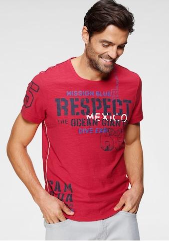 CAMP DAVID T-Shirt, mit großem Frontprint kaufen
