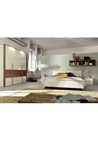 now! by hülsta Bett »now! no. 14«, mit Polsterkopfteil in Kunstleder weiß oder taupe kaufen