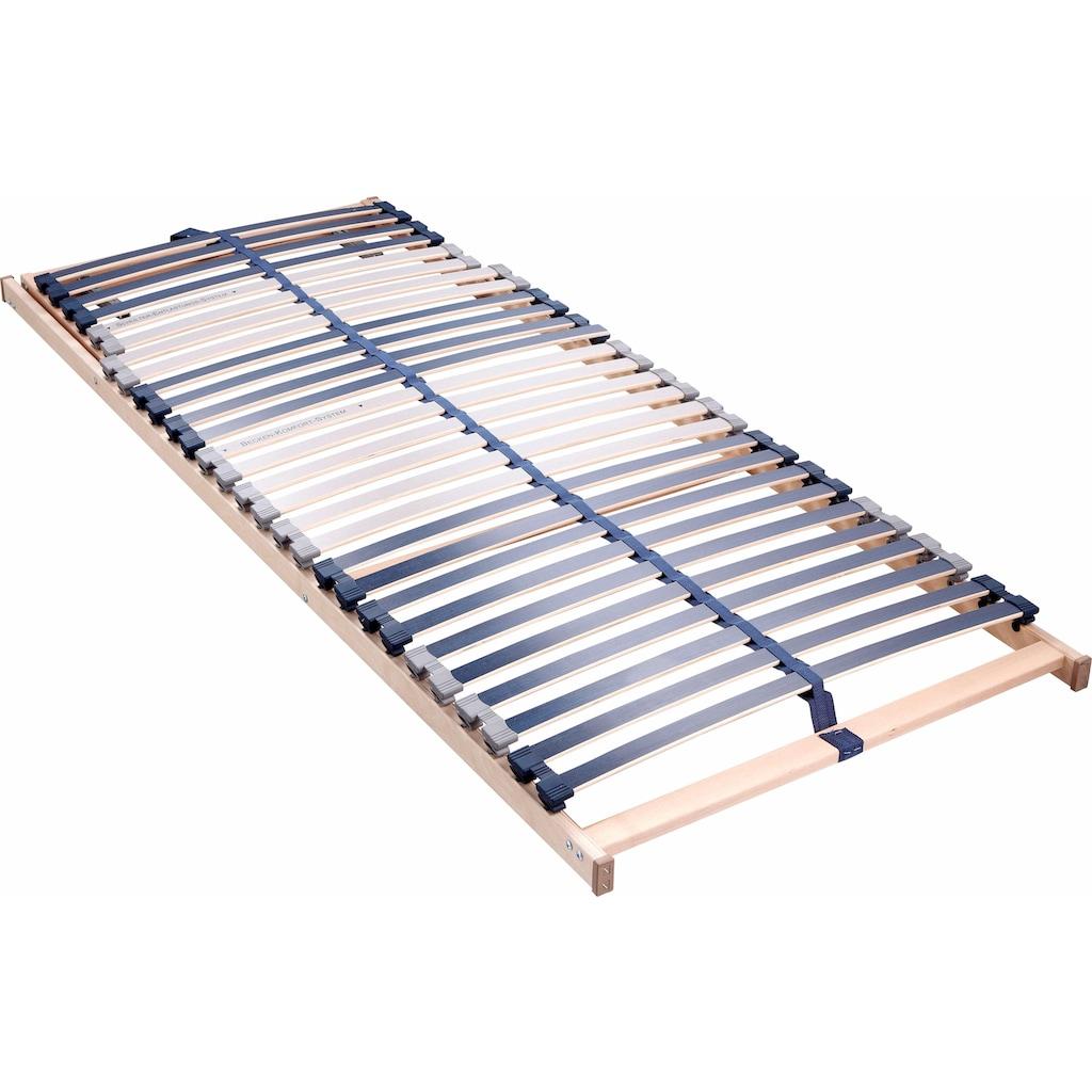 BeCo EXCLUSIV Lattenrost »Dura Flex LR-K«, 28 Leisten, Kopfteil manuell verstellbar, 7 Zonen, ideal für Doppelbetten