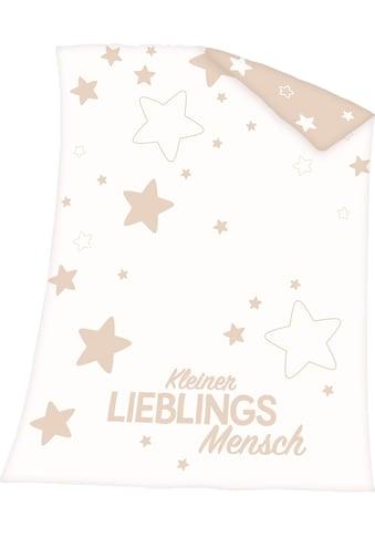 Baby Best Babydecke »Kleiner Lieblingsmensch«, mit Schriftzug und Sternen kaufen