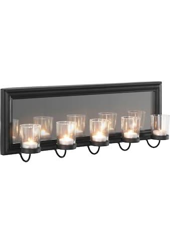 Home affaire Wandkerzenhalter »Mirrow«, Wandleuchter, Kerzenhalter, Kerzenleuchter, Wanddeko, Wanddekoration, mit Teelichthaltern und Spiegel kaufen