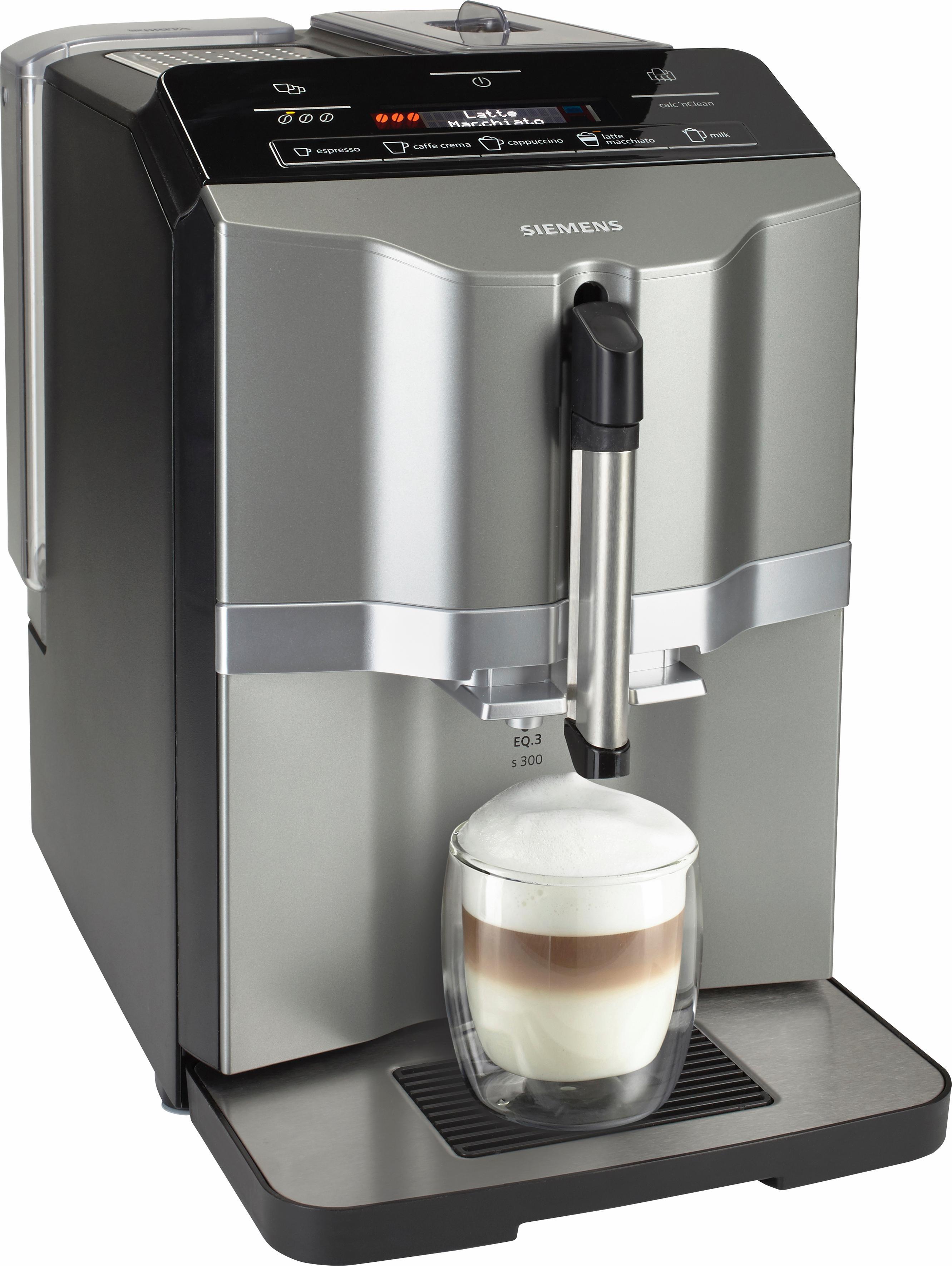 Kaffeevollautomat EQ.3 s300 TI303503DE, 1,4l Tank, Scheibenmahlwerk