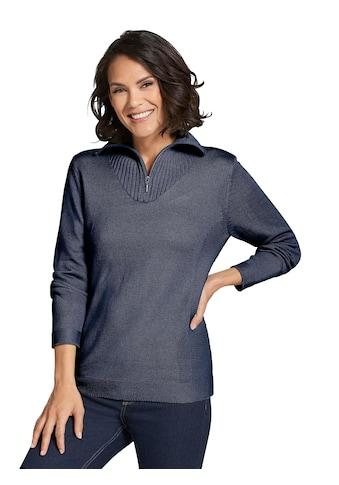 Casual Looks Pullover mit Strickeinsätzen kaufen