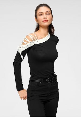 Melrose Rundhalsshirt, mit Zier-Schnürung kaufen