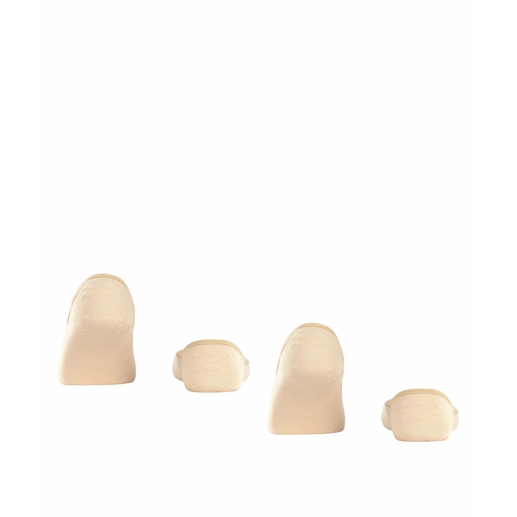 Esprit Füßlinge »Cotton 2-Pack«, (2 Paar), ein trageangenehmer Baumwollmix