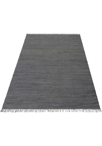 Home affaire Teppich »Handweb Uni«, rechteckig, 5 mm Höhe, reine Baumwolle,... kaufen
