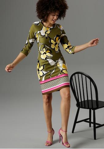 Aniston SELECTED Jerseykleid, mit farbenfroher Bordüre - NEUE KOLLEKTION kaufen