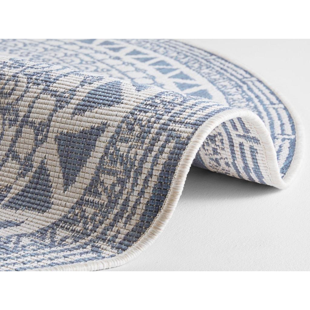 bougari Teppich »Coron«, rund, 5 mm Höhe, Wendeteppich, In- und Outdoor geeignet, Wohnzimmer