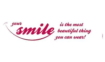 Komar Wandtattoo »Your Smile«, selbstklebend, rückstandslos abziehbar kaufen