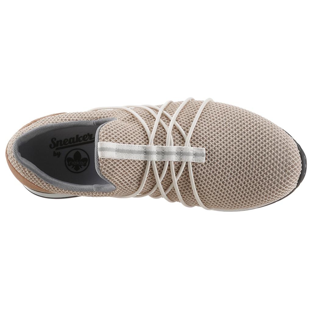 Rieker Slip-On Sneaker, mit Gummizug-Bändern