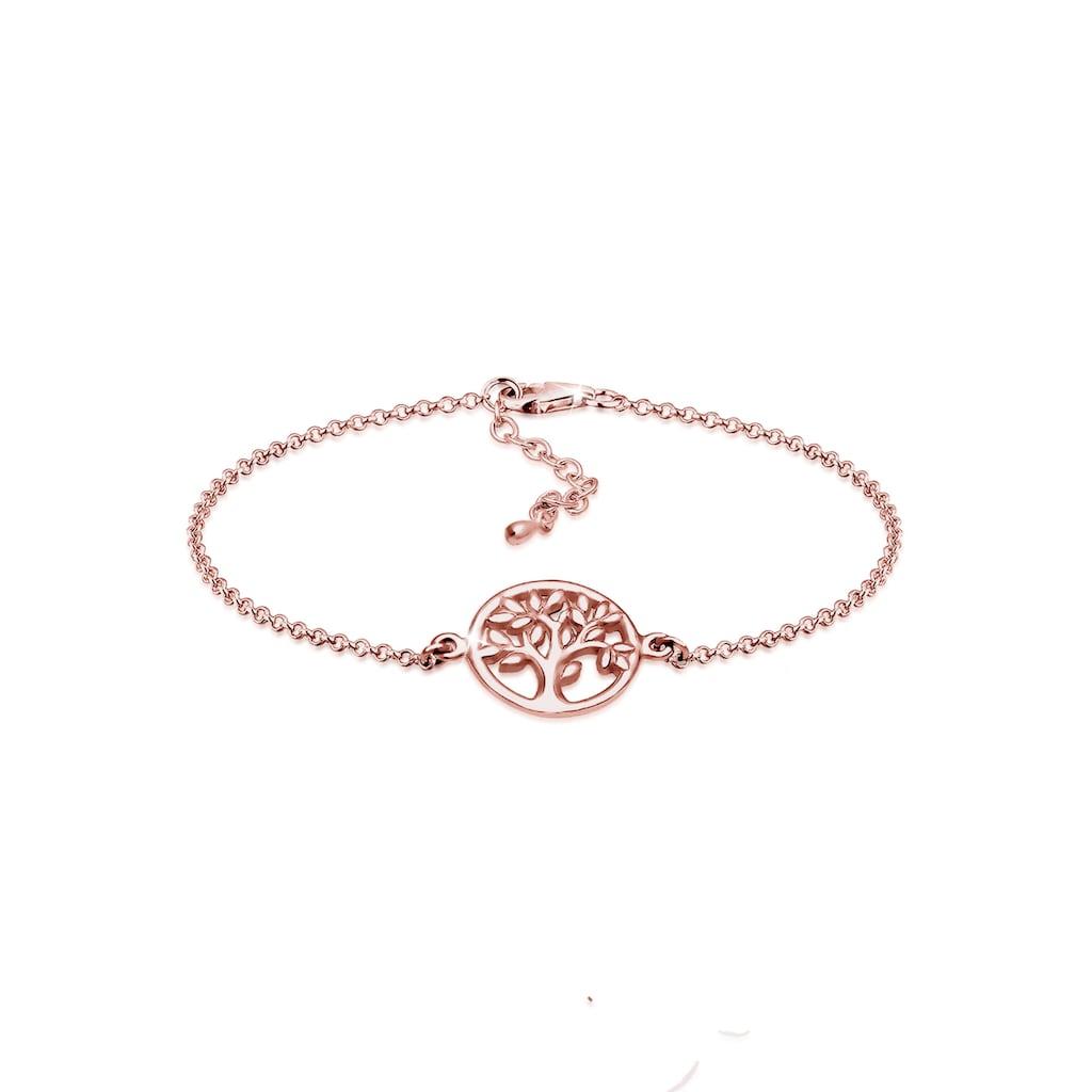Elli Armband »Lebensbaum Kreis Blatt Floral 925 Sterling Silber«