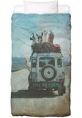 Juniqe Bettwäsche »Never Stop Exploring II«, In vielen weiteren Designs erhältlich kaufen
