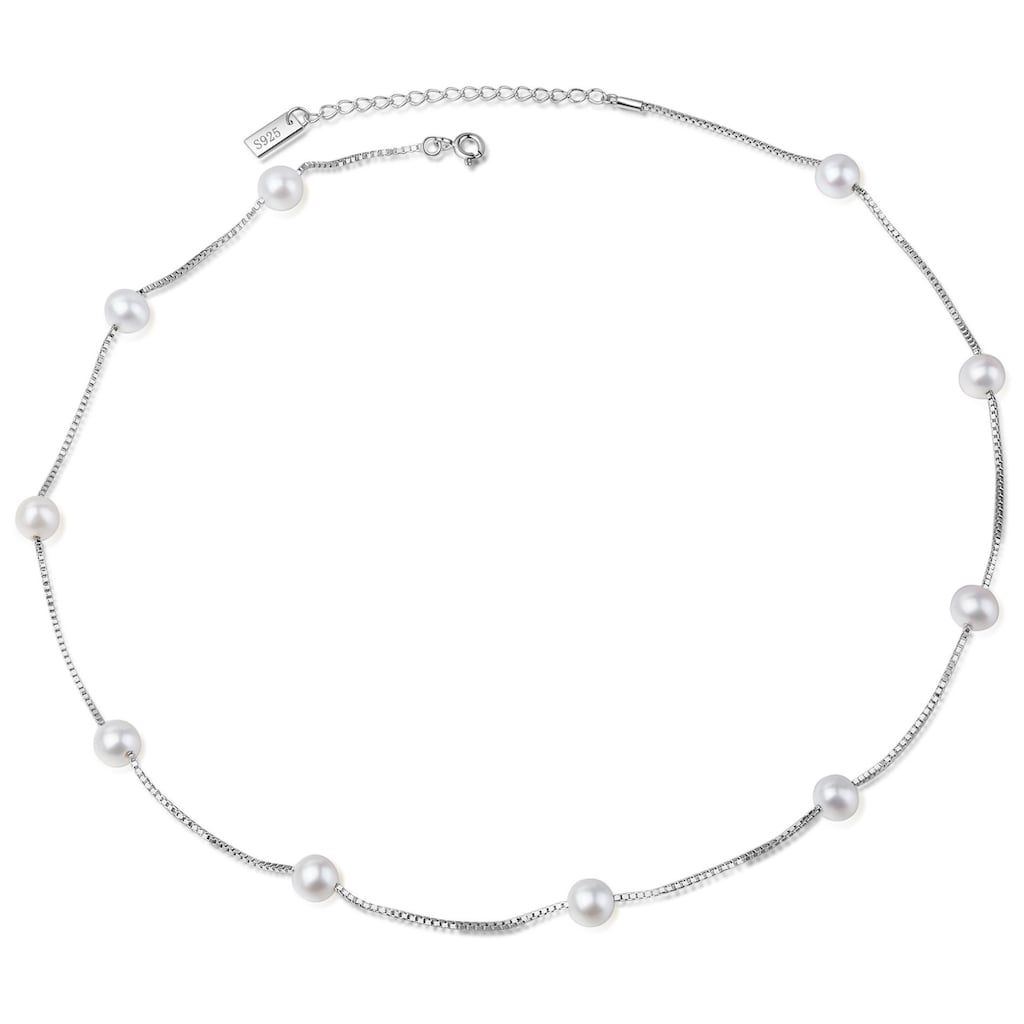 AILORIA Perlenkette »MASAKO Halskette Silber/weiße Perle«, aus 925 Sterling Silver mit Perlen
