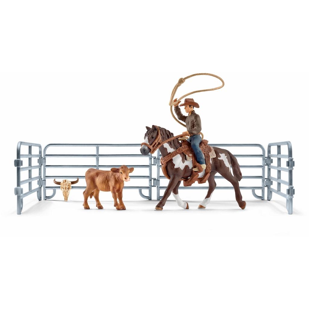 """Schleich® Spielfigur """"Farm World, Team Roping mit Cowboy (41418)"""""""