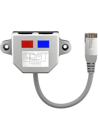 Goobay Adapter »(1x RJ45 Stecker auf 2x RJ45 Buchse)«, Netzwerk Adapter, Silber kaufen
