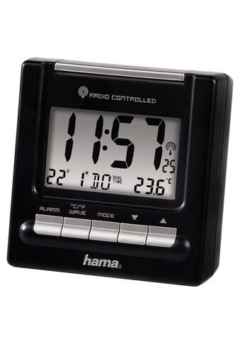 Hama Funk Wecker, digitaler Reisewecker, 2 Weckzeiten »beleuchtet, Thermometer, RC200« kaufen