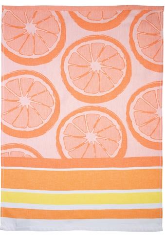 stuco Geschirrtuch »Summer Fruits Orange«, (Set, 3 tlg., 1x Geschirrtuch mit... kaufen
