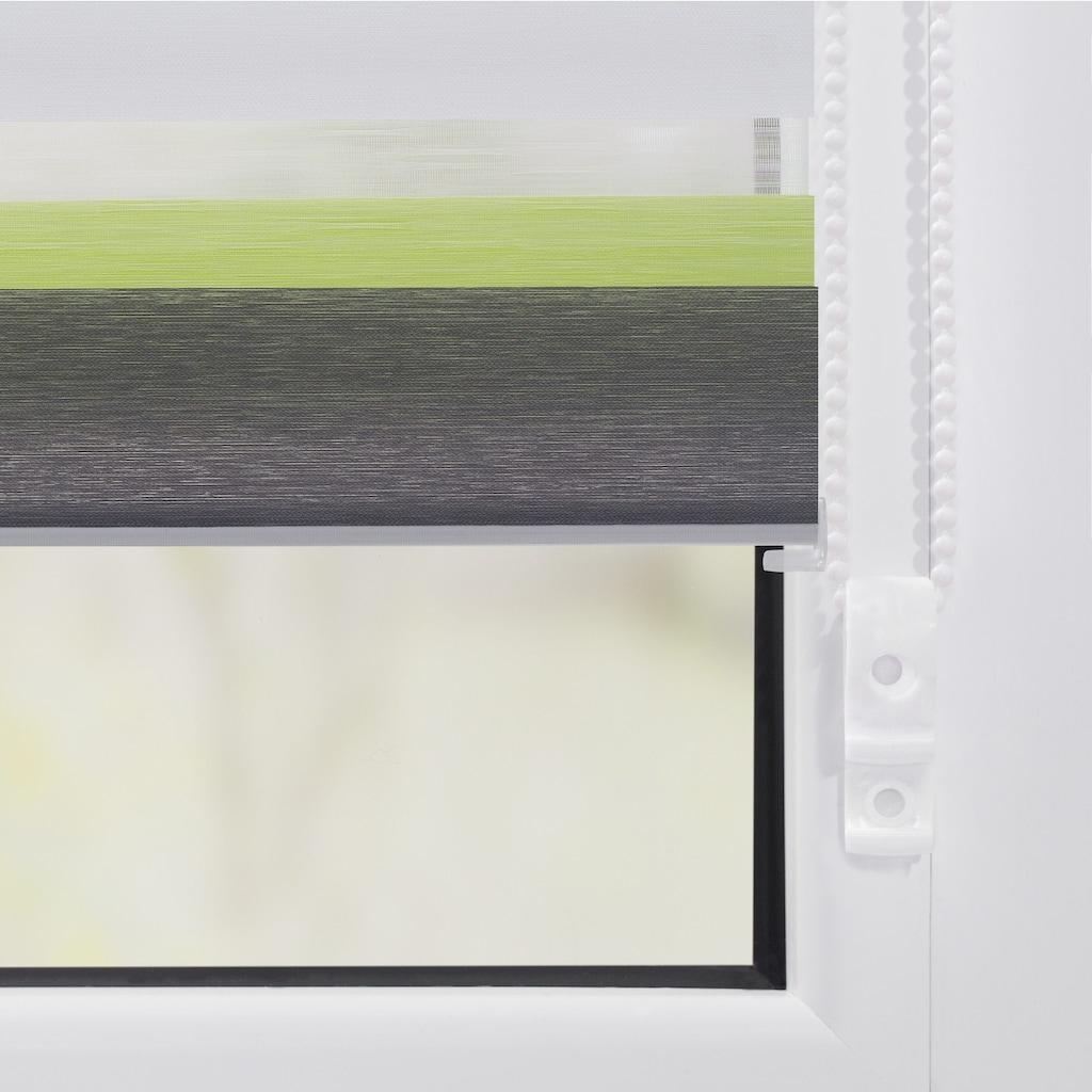 LICHTBLICK Doppelrollo »Duo Rollo Klemmfix Bunt«, Lichtschutz, ohne Bohren, Seitenzug