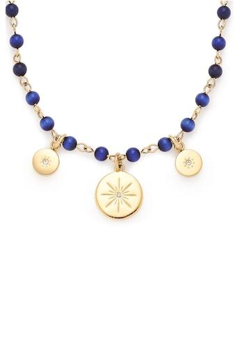 LEONARDO Kette mit Anhänger »Rosella, 017933«, mit Cat´s Eye Perlen und Kristallsteinen kaufen