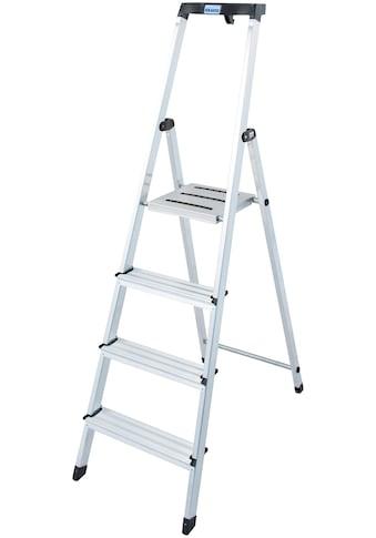 KRAUSE Stehleiter »Safety«, Aluminium, 1x4 Stufen, Arbeitshöhe ca. 285 cm kaufen