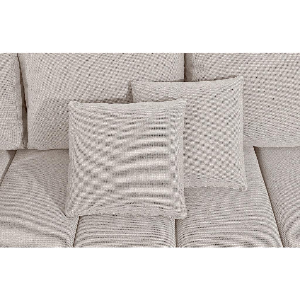 sit&more Wohnlandschaft »Bandos«, in 2 unterschiedlichen Größen, wahlweise mit Bettfunktion und Bettkasten, inklusive Zierkissen, frei im Raum stellbar, Recamiere links oder rechts bestellbar