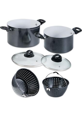 Genius Kochtopf »Magic Pot«, Aluminium, (Set, 6 tlg.), robuste Keramikbeschichtung,... kaufen