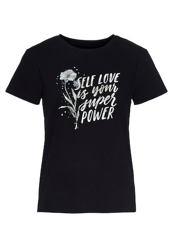 Mavi T-Shirt »SELF LOVE PRINTED TOP«, mit coolem Frontdruck kaufen