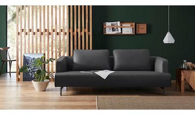 hülsta sofa 4-Sitzer »hs.440«, wahlweise in Stoff oder Leder, Spangenfüße umbragrau kaufen