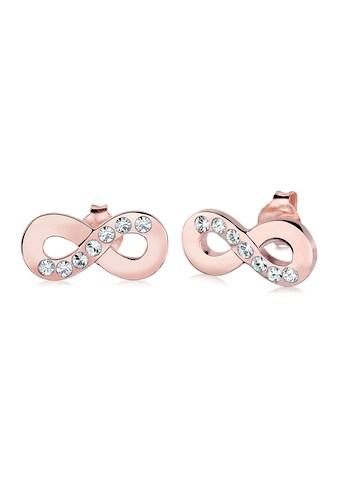 Elli Paar Ohrstecker »Infinity Symbol Liebe Kristalle Silber« kaufen
