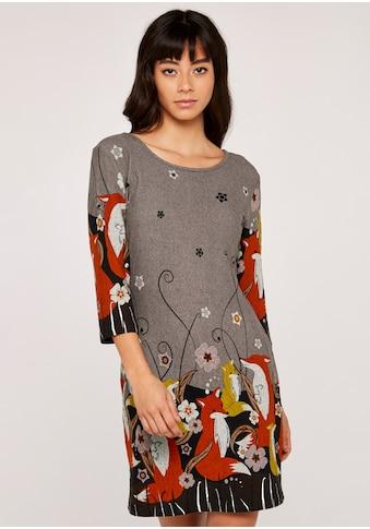 Apricot Strickkleid »Foxes Border Soft Touch Dress«, mit tollem Druck kaufen