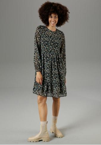 Aniston CASUAL Volantkleid, mit farbharmonischem Blumendruck - NEUE KOLLEKTION kaufen