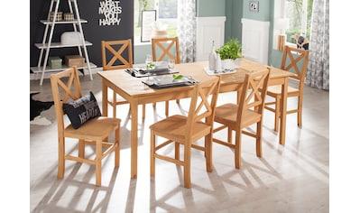 Home affaire Essgruppe »Marta«, (Set, 7 St.), mit großem Tisch kaufen