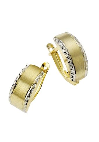 CELESTA Creolen »333/ -  Gelbgold bicolor diamantiert« kaufen