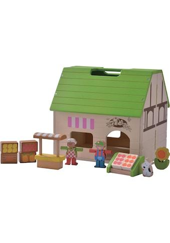 EverEarth® Puppenhaus »Bio-Laden Mitnehm-Puppenhaus«, aufklappbar, FSC®-Holz aus... kaufen