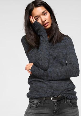 AJC Strickpullover, mit Melange-Effekt & Nietenverzierung kaufen