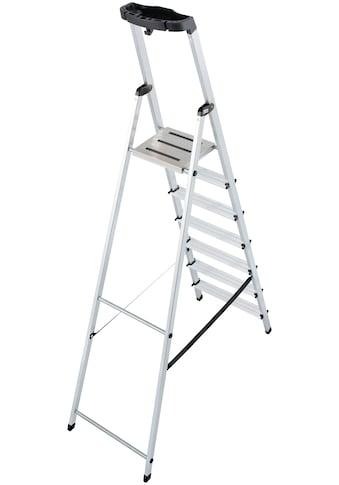 KRAUSE Stehleiter »Safety«, Aluminium, 1x7 Stufen, Arbeitshöhe ca. 350 cm kaufen
