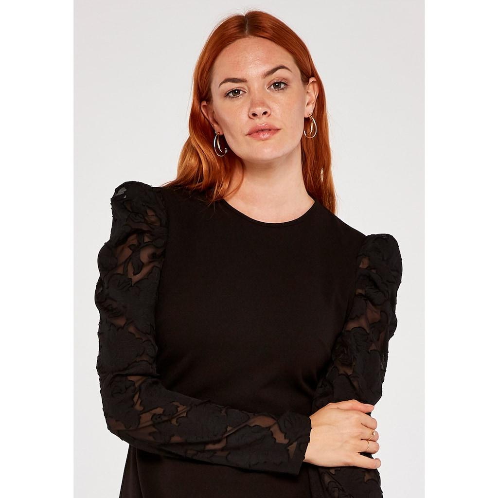 Apricot Etuikleid »Sheer Puff Sleeve Bodycon Dress«, mit Puffärmeln