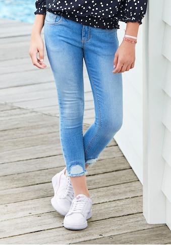 KangaROOS 7/8-Jeans, leicht ausgefranzte Saumkante kaufen