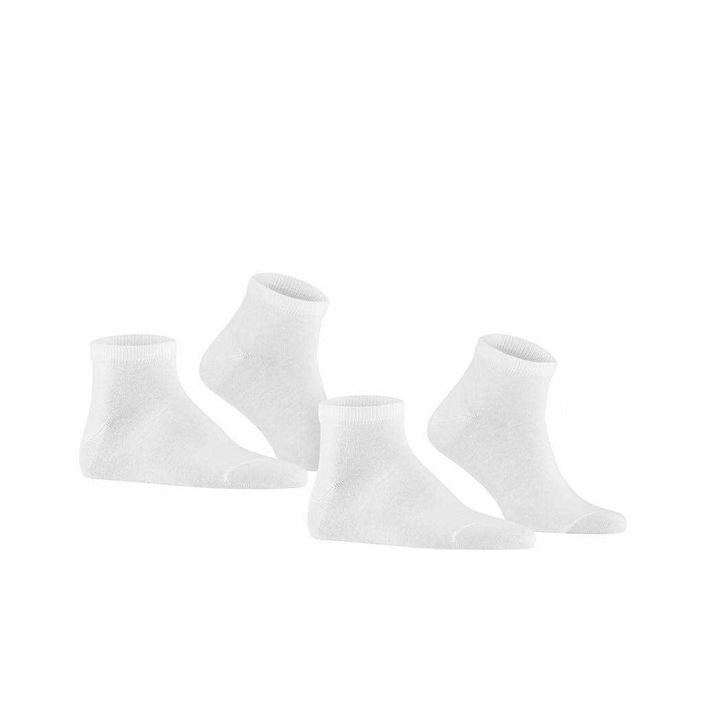 FALKE Sneakersocken »Happy 2-Pack«, (2 Paar), mit Kompakt-Baumwolle