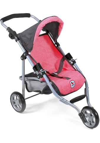 CHIC2000 Puppenbuggy »Jogging-Buggy Lola, anthrazit-pink«, mit klappbarem Verdeck kaufen