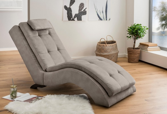 Relaxliege in Grau