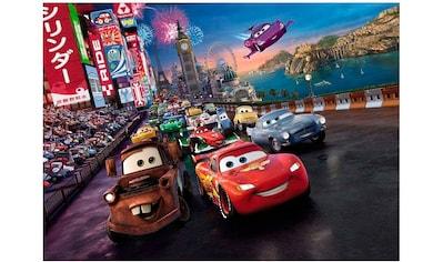 Komar Fototapete »Cars Race«, bedruckt-Comic, ausgezeichnet lichtbeständig kaufen