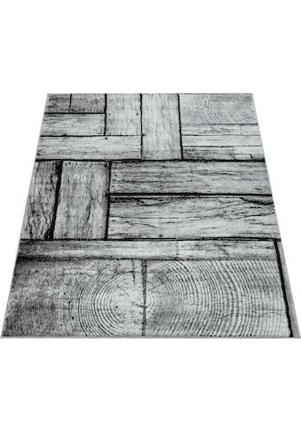 Paco Home Teppich »Sinai 079«, rechteckig, 9 mm Höhe, Kurzflor mit Holz-Optik, Wohnzimmer kaufen