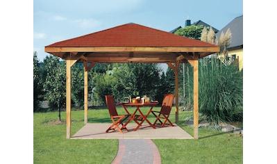 weka Pavillon »Paradies 2«, (Set), BxT: 380x380 cm, inkl. Dachschindeln und Pfostenanker kaufen