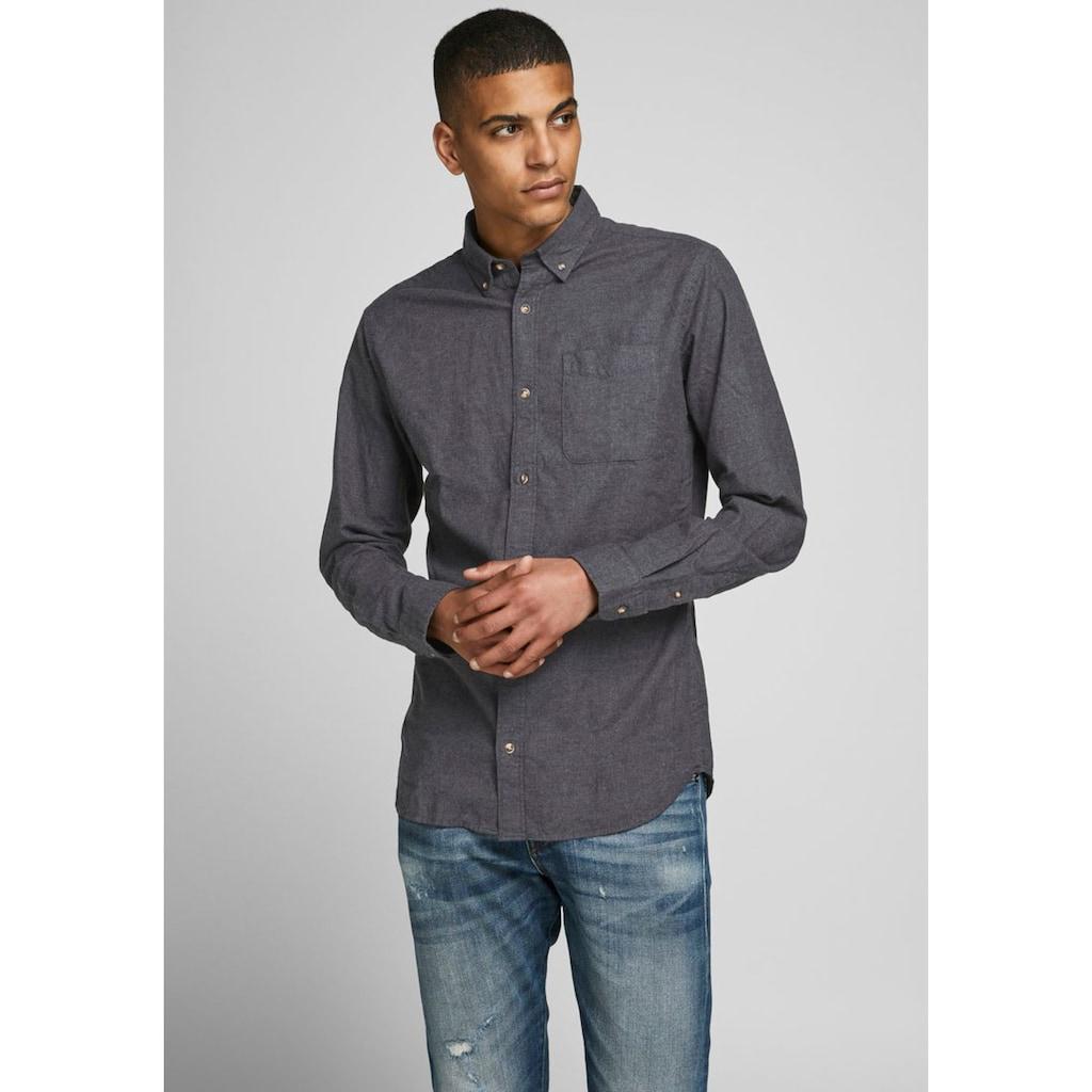 Jack & Jones Langarmhemd »Classic Melange Shirt«