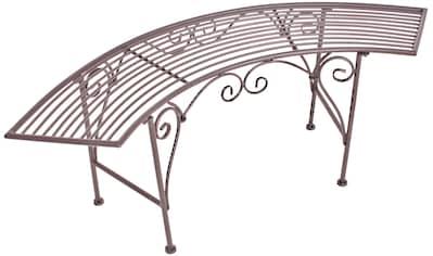 GARDEN PLEASURE Gartenbank »Romantik«, Stahl, 125x46x47 cm, rostfarben kaufen