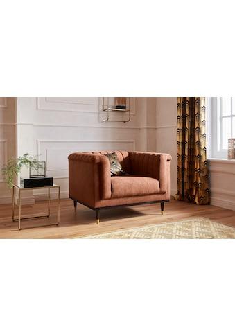Guido Maria Kretschmer Home&Living Sessel »Chamby«, mit Holzrahmen unten und Steppung... kaufen