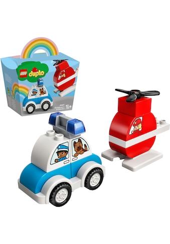 LEGO® Konstruktionsspielsteine »Mein erster Feuerwehrhubschrauber und mein erstes... kaufen