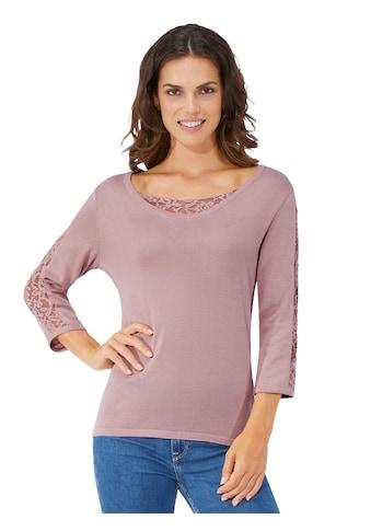 Fair Lady Pullover mit edler, transparenter Spitze kaufen